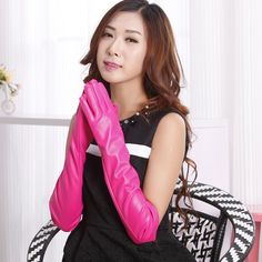 Find More Gloves & Mittens Information about New 2016 Women Sexy Faux Synthetic Leather Gloves Gothic Five Fingers Long PU Gloves 50cm Length,High Quality gloves racing,China gloves female Suppliers, Cheap gloves tight from Bys Store Store on Aliexpress.com