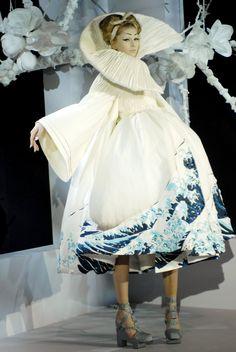 Christian Dior . Love the Hokusai inspired wave