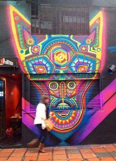Street art in Bogota, Colombia by Guache | #streetart2015 #urbanartists…