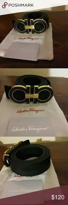 Ferragamo belt New Comes in the box with dust bag and card. Leather Belts, Leather Men, Hubby Birthday, Cycling Backpack, Bicycle Bag, Cycling Gloves, Designer Belts, Salvatore Ferragamo, Gq