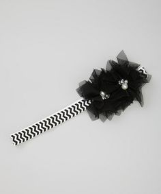 Love this Black & White Flower Zigzag Headband on #zulily! #zulilyfinds