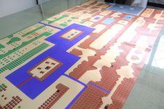 NES Zelda Map Wall Mural Detail
