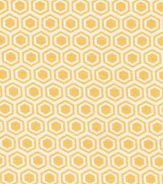 Quilter's Showcase Fabric- Hexagon Yellow