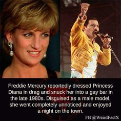 Princess Diana, Freddie Mercury