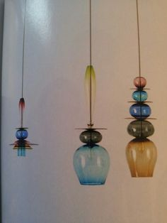 Lamps of coloured glass