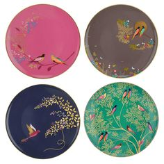 Sara Miller Chelsea Collection - Set of 4 Cake Plates