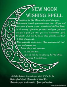 New Moon Wishing Spell   Sacred Wicca