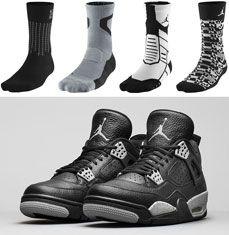 "14322fb5228 Jordan Basketball Socks to Wear with the Air Jordan 4 ""Tech Grey"""