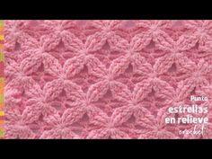 Punto estrellas en relieve tejido a crochet - Tejiendo Perú - YouTube