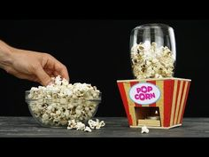 DIY Popcorn Machine from Wood at Home - YouTube