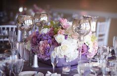 lavendar blooms and mercury glass