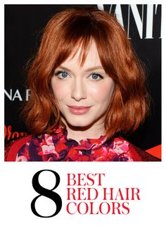 "The 8 Most Beautiful Hair Color Ideas for Redheads: ""Red is having its moment right now,"" says colorist Christopher Pierce of the Andy Lecompte Salon in Los Angeles. Find out who wears it best (ehem.. Christina Hendricks), plus get tips on how to find (and maintain) your perfect shade 