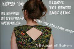 Belladone no center back seam tutorial