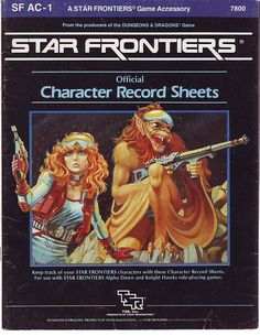 Star Frontiers! Character record sheets.