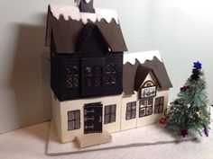 What I did today: Every Good Village Needs a Pub. Tim Holtz Village Dwelling die