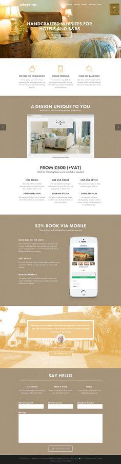 Upbookings - Flat Design Website