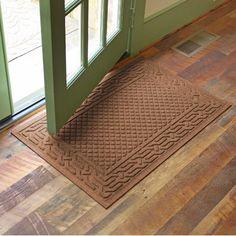 "Alcott Hill Olivares Acropolis Doormat Color: Dark Brown, Rug Size: 24"" x 36"""