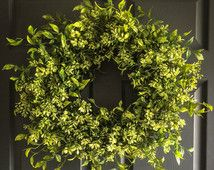 WREATHS   Faux Boxwood Wreath   Winter Wreaths   Front Door Wreaths   Spring Wreaths   Office Decor   Wall Decor   Housewarming Gift