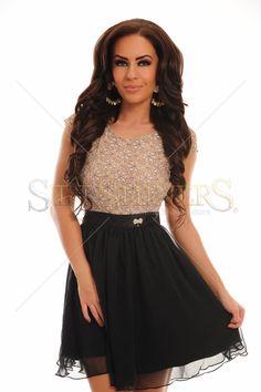 Rochie PrettyGirl Fairness Cream 185 Lei.  Spate decupat. | StarShinerS Fairness Cream, Skater Skirt, Mini Skirts, Outfits, Fashion, Vestidos, Moda, Suits, Fashion Styles
