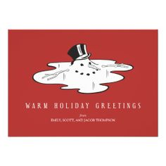 Shop Melted Snowman - Funny Holiday Cards created by UniqueInvites. Funny Holiday Cards, Unique Christmas Cards, Best Christmas Gifts, Christmas Snowman, Christmas Humor, Holiday Fun, Funny Snowman, Melted Snowman, Diy Crafts To Do