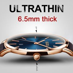 Cool Watches: On Sale Ultra thin Watch Men Casual Brown Leather Quartz Mens Watches Rose Gold Date Watch Male reloj hombre Waterproof montre homme Datejust Rolex, Rose Gold Watches, Quartz Watches, Men's Watches, Male Watches, Wrist Watches, Top Luxury Brands, Mode Top, Swiss Army Watches