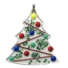 Fused Glass Christmas Tree Ornament (with instructions)