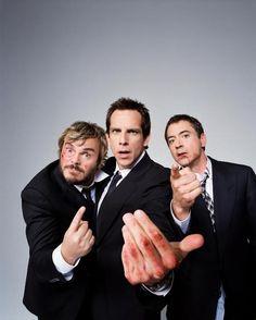 BEN STILLER, ROBERT DOWNEY JR. & JACK BLACK BY JAKE CHESSUM... 3 of my favorites actors / comedians.  I love funny guys.