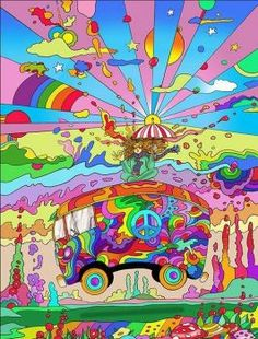 A 63 pieces jigsaw puzzle from Jigidi Hippie Wallpaper, Retro Wallpaper, Woodstock, Psychadelic Art, Hippie Painting, Psy Art, Hippie Art, Retro Art, Urban Art
