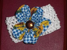Fabric Flower Hair Clips and Headbands. | Cherished Handmade Treasures... Free tutorial for making!!