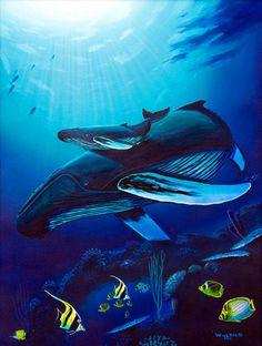 Humpback Reef Oils Art by Wyland
