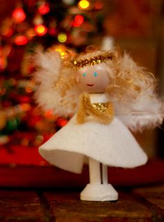 angel clothes pin dolls