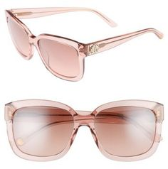 b2cf8435f2 ... 60Mm Gradient Aviator Sunglasses - Brown. Women s Juicy Couture Black  Label 55Mm Square Sunglasses - Pink Crystal
