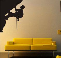 Hight 120CM Climbing Man  Nature Vinyl Wall by lovebabysticker, $25.88