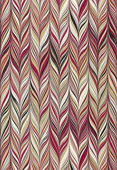 Firenze in Ruby by @Mary McDonald from @Schumacher — Fabric Wallcovering Trimming Furnishing #fabric #linen #chevron #red