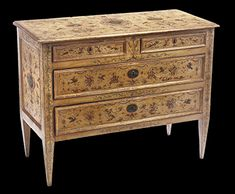 Italian, Neoclassical period, painted and parcel-gilt chest of drawers Large Drawers, Chest Of Drawers, Neoclassical, Antique Furniture, 18th Century, Period, Antiques, Painting, Home Decor
