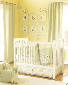 How to Personalize a Gender-Neutral Nursery | Pottery Barn Kids, reusable for every kid. Great!