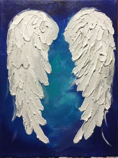 A personal favorite from my Etsy shop https://www.etsy.com/ca/listing/497982603/angel-wings-painting-have-your-very-own