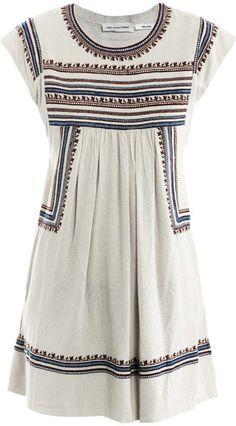 Etoile Isabel Marant Demma Embroidered Dress