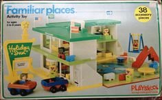 PLAYSKOOL: 1974 Familiar Places Holiday Inn Playset #Vintage #Toys
