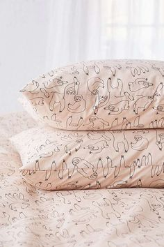 Sloth Print Duvet Cover Set | Urban Outfitters | Home | Bedding | Duvet Covers & Pillow Cases