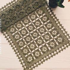 Tecendo Artes em Crochet: Trilho de Mesa Clássico Crochet Mat, Crochet Dollies, Free Crochet, Crochet Table Runner, Crochet Square Patterns, Table Covers, Home Textile, Doilies, Animal Print Rug