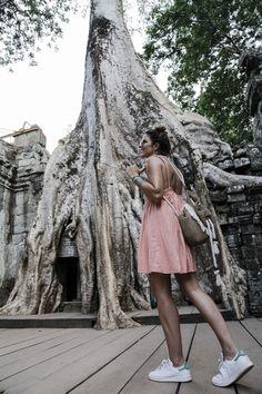 camboya cambodia angkor wat trendy taste summer trip outfit look dress sneakers stan smith vestido zapatillas asos adidas _42