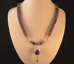 Purple Viking Knit Pod Weave Necklace & Earrings