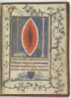 Psalter and Hours of Bonne of Luxembourg, Duchess of Normandy (image 14) | Attributed to Jean Le Noir | France; Paris |Tempera, grisaille, ink, and gold on vellum | Metropolitan Museum of Art | Accession Number: 69.86