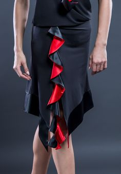 Santoria Bimala Latin Skirt S6107 | Dancesport Fashion@ DanceShopper.com