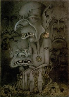 Illustrations for 'The Magic Inkstand' (Bog Gnomes) - Wayne Anderson Fantasy World, Fantasy Art, Wayne Anderson, John Kenn, Nature Spirits, Fairy Land, Art Google, Troll, Illustrators