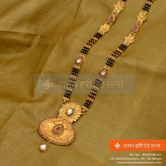 #Absolutely #Stunning #Gold #Mangalsutra with a perfect designer look.