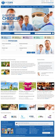 Welcare responsive medical HTML template on Behance