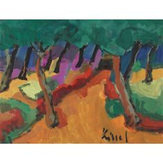Artwork by Gernot Kissel, Landschaft auf Mallorca, Made of oil on sturdy paper