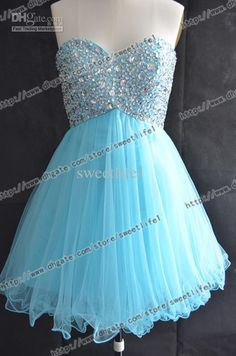 Cute Prom Dresses 2014 - ... bright blue short prom homecoming ...
